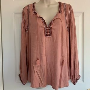 Lucky brand peasant top NWT
